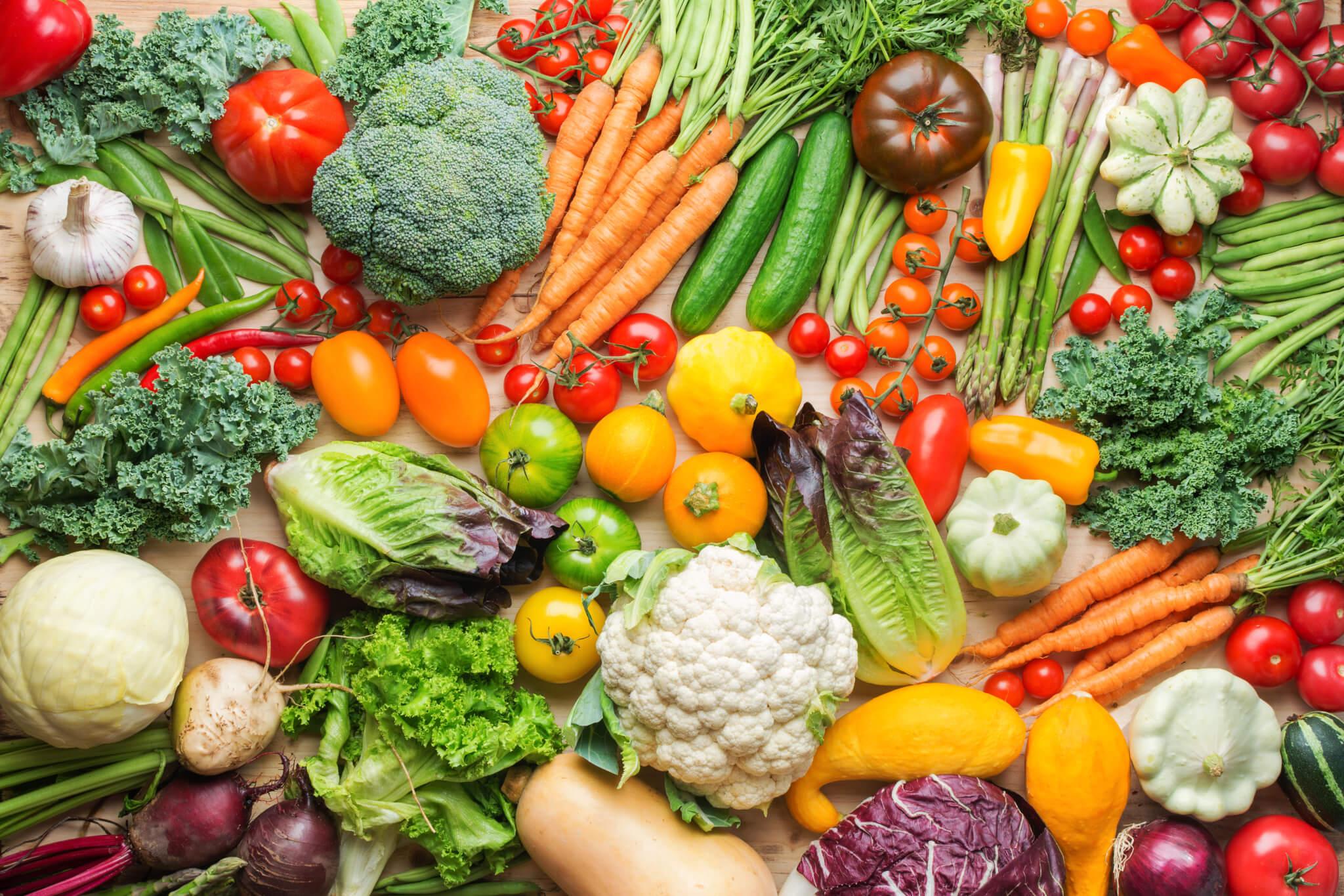 Gemüse und Salat